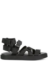 schwarze Sandalen von MSGM