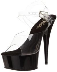 schwarze Sandalen von Pleaser