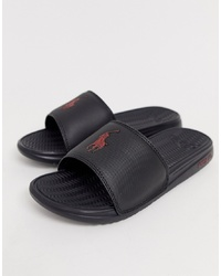 schwarze Sandalen von Polo Ralph Lauren