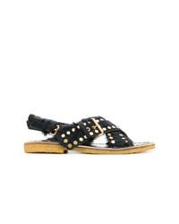 schwarze Sandalen von Prada