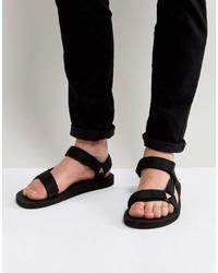 schwarze Sandalen von Teva