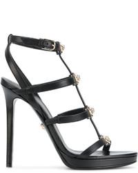 schwarze Sandalen von Versace