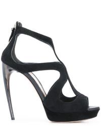 schwarze Sandaletten von Alexander McQueen