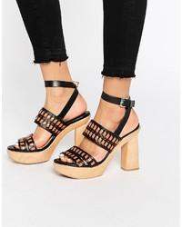 schwarze Sandaletten von Mango