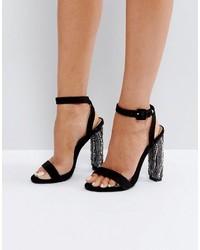 schwarze Sandaletten von Missguided