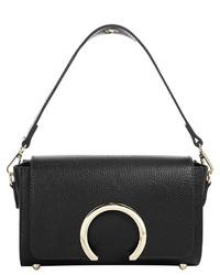 schwarze Satchel-Tasche aus Leder von CLUTY