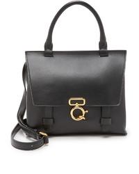 schwarze Satchel-Tasche aus Leder von Derek Lam 10 Crosby