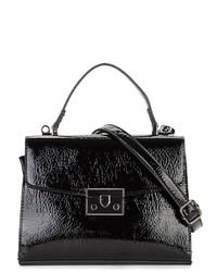 schwarze Satchel-Tasche aus Leder von EMILY & NOAH
