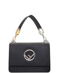 schwarze Satchel-Tasche aus Leder von Fendi