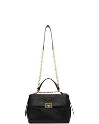 schwarze Satchel-Tasche aus Leder von Givenchy