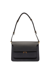 schwarze Satchel-Tasche aus Leder von Marni