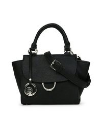 schwarze Satchel-Tasche aus Leder von MERCH MASHIAH