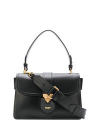 schwarze Satchel-Tasche aus Leder von Moschino