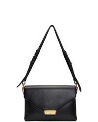 schwarze Satchel-Tasche aus Leder von Prada