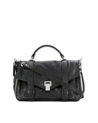 schwarze Satchel-Tasche aus Leder von Proenza Schouler