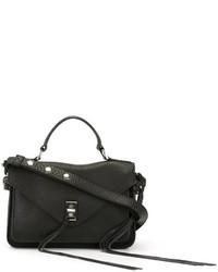schwarze Satchel-Tasche aus Leder von Rebecca Minkoff