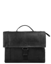 schwarze Satchel-Tasche aus Leder von Sansibar