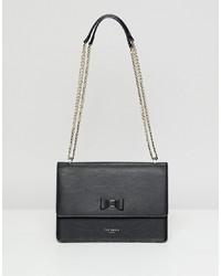 schwarze Satchel-Tasche aus Leder von Ted Baker