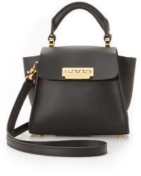 schwarze Satchel-Tasche aus Leder von Zac Posen