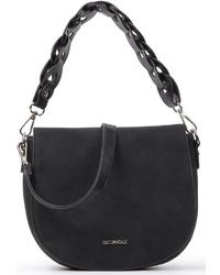 schwarze Satchel-Tasche aus Wildleder von EMILY & NOAH