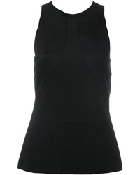 schwarze Satin Bluse von Versace