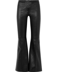schwarze Schlaghose aus Leder von Alexander McQueen