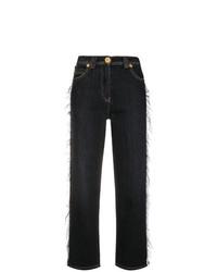 schwarze Schlagjeans von Versace