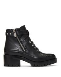 schwarze Schnürstiefeletten aus Leder von 3.1 Phillip Lim