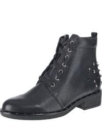 schwarze Schnürstiefeletten aus Leder von Gabor