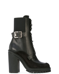 schwarze Schnürstiefeletten aus Leder von Givenchy