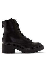 schwarze Schnürstiefeletten aus Leder von Kenzo