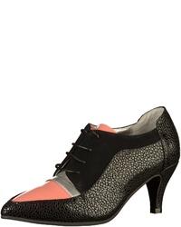 schwarze Schnürstiefeletten aus Leder von Lola Ramona