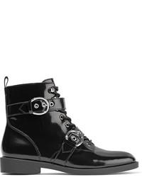 schwarze Schnürstiefeletten aus Leder von Marc Jacobs