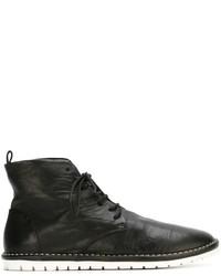 Schwarze Schnürstiefeletten aus Leder von Marsèll