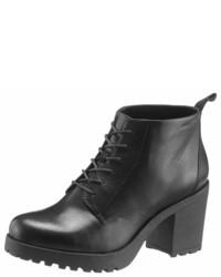 schwarze Schnürstiefeletten aus Leder von Vagabond