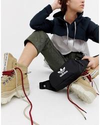 schwarze Segeltuch Bauchtasche von adidas Originals