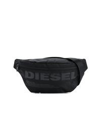 schwarze Segeltuch Bauchtasche von Diesel