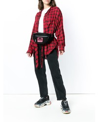 schwarze Segeltuch Bauchtasche von Marc Jacobs