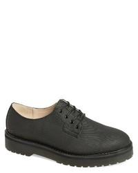 schwarze Segeltuch Derby Schuhe
