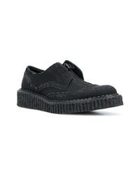 schwarze Segeltuch Derby Schuhe von Yohji Yamamoto