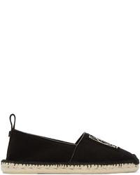 schwarze Segeltuch Espadrilles von McQ