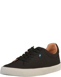 schwarze Segeltuch niedrige Sneakers von Boxfresh