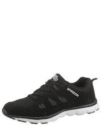 schwarze Segeltuch niedrige Sneakers von Brütting