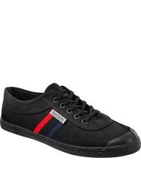 schwarze Segeltuch niedrige Sneakers von Kawasaki