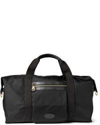 schwarze Segeltuch Reisetasche