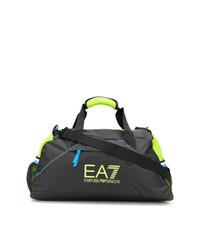 schwarze Segeltuch Reisetasche von Ea7 Emporio Armani