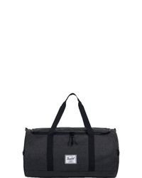 schwarze Segeltuch Reisetasche von Herschel