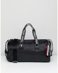 schwarze Segeltuch Reisetasche von Tommy Jeans
