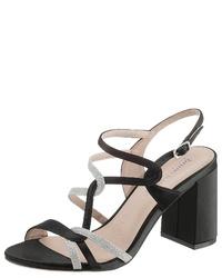 schwarze Segeltuch Sandaletten von Bruno Banani
