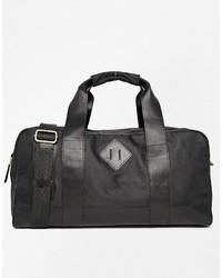 schwarze Segeltuch Sporttasche von Asos